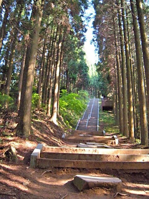 日本一の石段途中