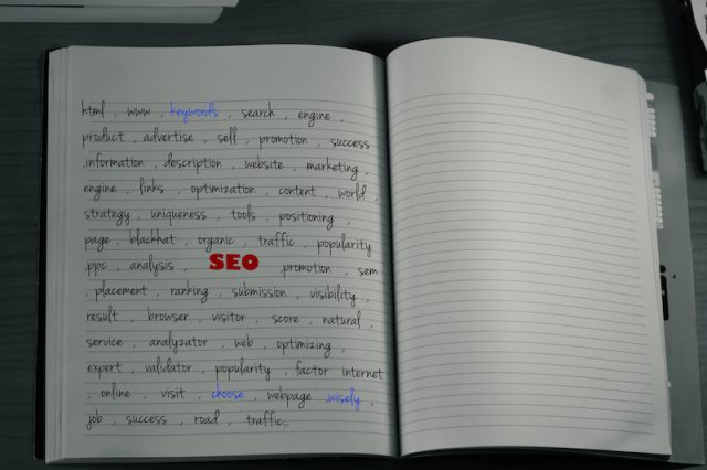 seo keywords notebook